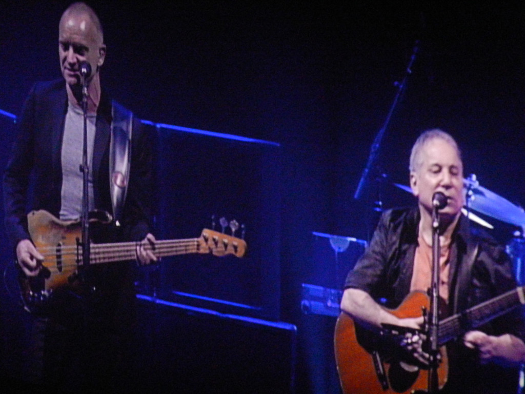 Paul Simon and Sting.  Giant Center, Hershey, PA March 9, 2014